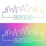 Buffalo skyline. Colorful linear style. Stock Photography