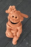 Buffalo smile pottery Stock Photography
