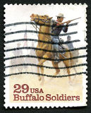 Buffalo Soldiers US Postage Stamp Royalty Free Stock Photos