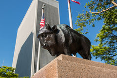 Buffalo Statue One M&T Plaza Royalty Free Stock Photography