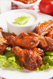 Buffalo style chicken wings Stock Images