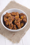 Buffalo style chicken wings in a bowl Stock Photo