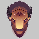 Buffalo - vector illustration Royalty Free Stock Photo