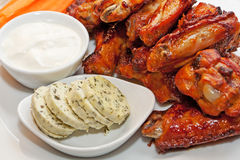 Buffalo wing platter Stock Photos