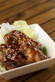 Buffalo Wings. Barbecue buffalo wings with sesame sauce ready to be served Royalty Free Stock Photography