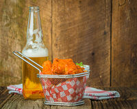 Buffalo Wings in a Basket Stock Photo
