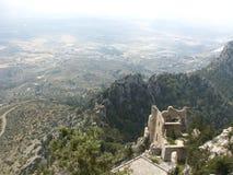 Buffavento krzyżowów kasztel, Cypr obraz royalty free