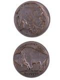 1920 Buffelsnikkel Stock Afbeeldingen