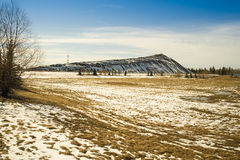 Buffer zone to the city snow storage site Stock Images