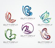 BUFFERFLY LOGO DESIGN royalty free stock photography