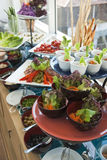 Buffet. Western Style Fresh Salad Buffet Stock Images