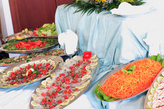 Buffet Photographie stock
