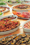 Buffet. Italian hotel or restaurant food buffet Royalty Free Stock Photography