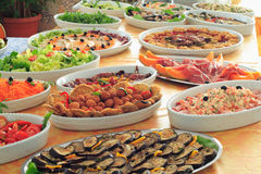 Buffet. Italian hotel or restaurant food buffet Royalty Free Stock Photos