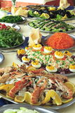 Buffet. Italian hotel or restaurant food buffet Royalty Free Stock Image