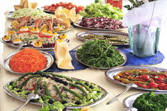 Buffet. Italian hotel or restaurant food buffet Royalty Free Stock Images