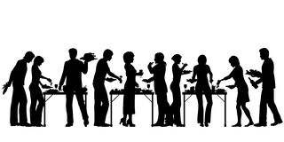 buffet royalty-vrije illustratie