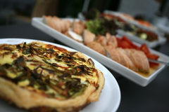 Buffet. Selective focus of a buffet with delicious foods Stock Images