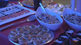 buffet stock footage