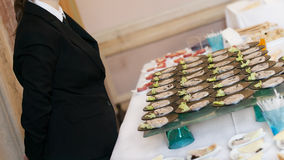Buffet with appetizers or finger food Royalty Free Stock Photography