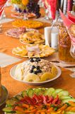 Buffet with appetizers Royalty Free Stock Image