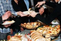 Buffet bij partij Royalty-vrije Stock Foto