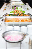 Buffet breakfast theme. On table royalty free stock image