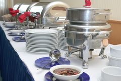 Buffet or catering industry Royalty Free Stock Images