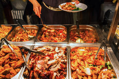 Buffet of a Chinese restaurant Stock Image
