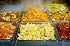 Buffet chinois de nourriture Photographie stock libre de droits