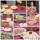 Catering collage Stock Photos