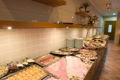 Buffet Counter Stock Photography