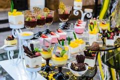 Buffet de dessert Photos stock