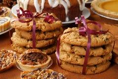 Buffet de dessert de vacances images stock
