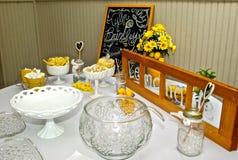 Buffet de jour du mariage Photos stock