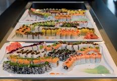 Buffet de libre service de sushi photos libres de droits