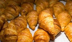 Buffet de pain de croissants image libre de droits