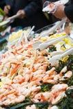Buffet de réception de fruits de mer Photos libres de droits