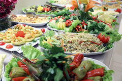 Buffet de salade photographie stock