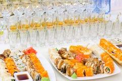 Buffet de sushi Photos libres de droits