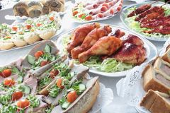 Buffet de viande froide Photos stock