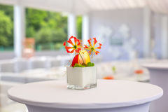 Buffet decorations flowers Royalty Free Stock Images