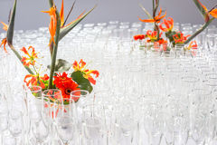 Buffet decorations flowers stock photos