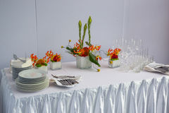Buffet decorations flowers Royalty Free Stock Image