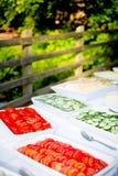 Buffet dell'alimento dell'affresco di Al Fotografia Stock