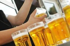 Buffet della birra Fotografia Stock Libera da Diritti
