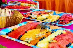 Buffet della frutta Immagini Stock