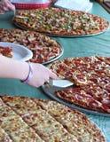 Buffet della pizza Immagini Stock