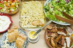Buffet des tonnes de nourriture Image libre de droits