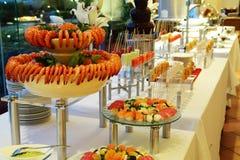 Buffet dinner. Buffet food dinner at restaurant Stock Photography